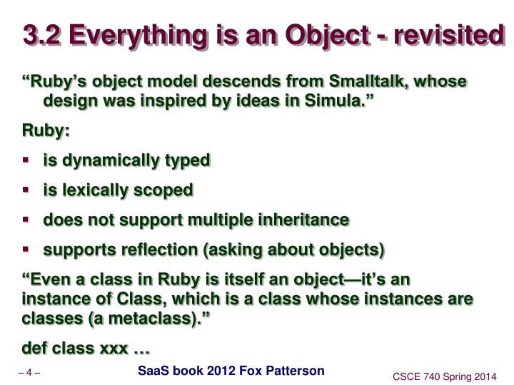 3.2 Everything is an Object - revisited