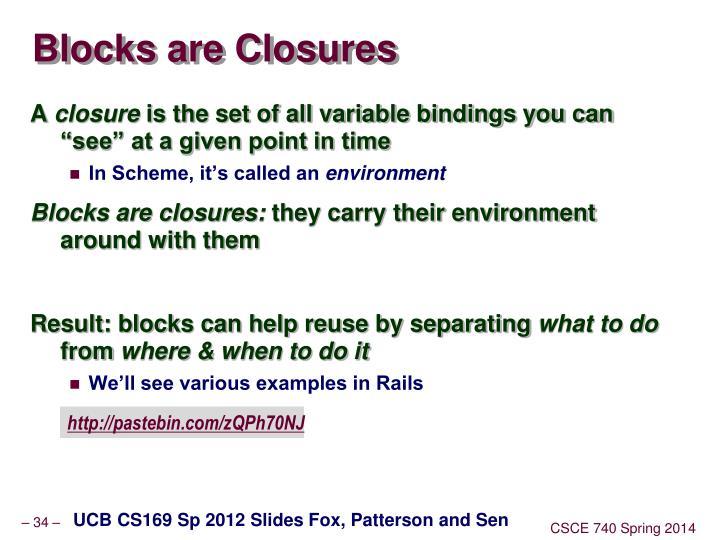 Blocks are Closures