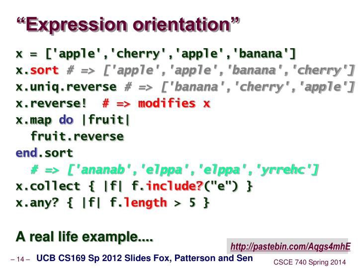 """""""Expression orientation"""""""