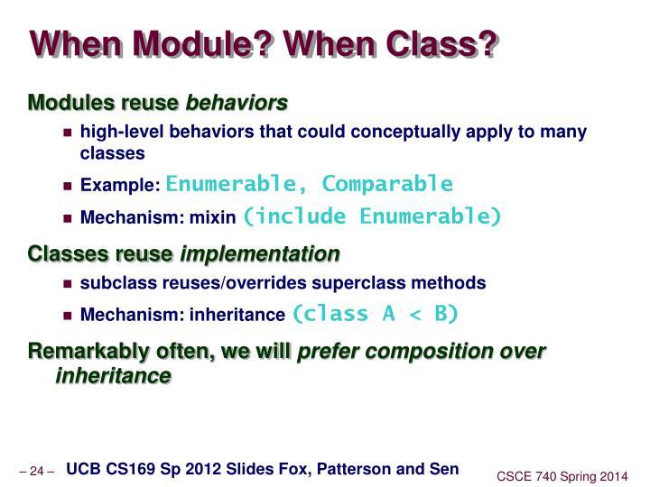 When Module? When Class?