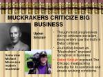 muckrakers criticize big business