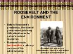 roosevelt and the environment