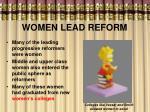women lead reform
