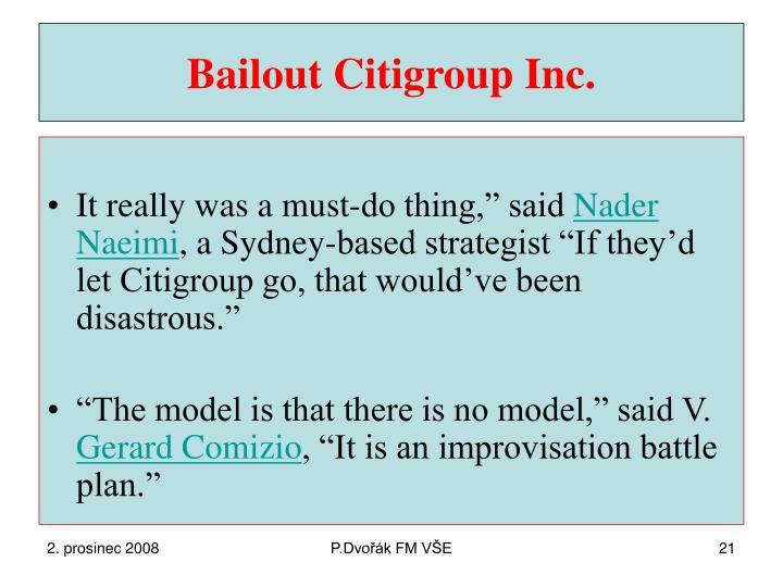 Bailout Citigroup Inc.