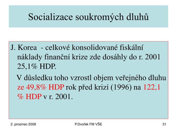 Socializace soukromých dluhů