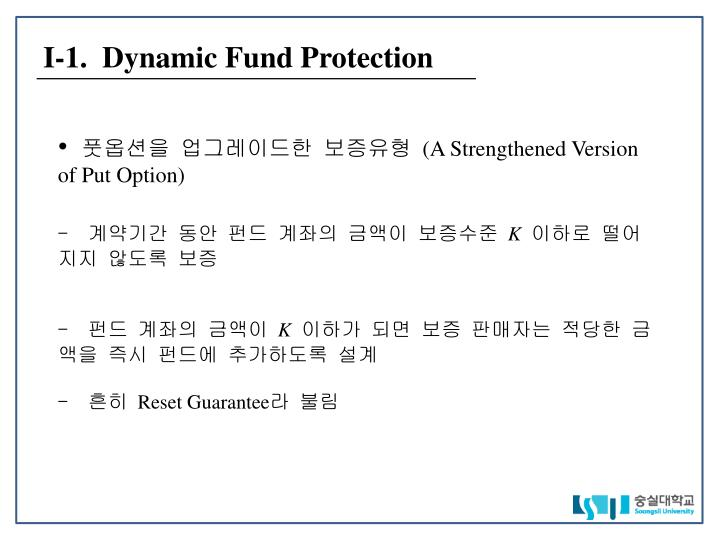 I 1 dynamic fund protection