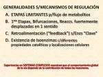 generalidades s mecanismos de regulaci n