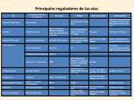 principales reguladores de las v as