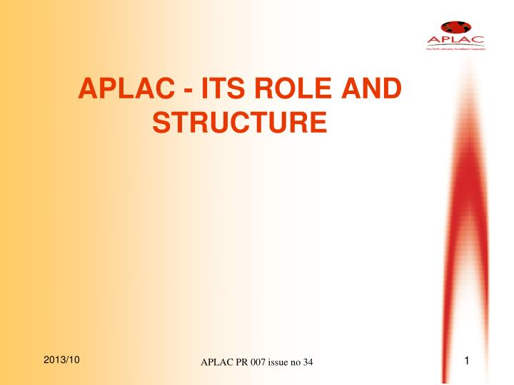 aplac its role and structure n.