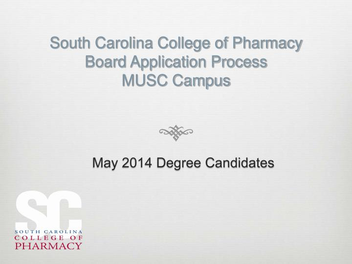 South carolina college of pharmacy board application process musc campus