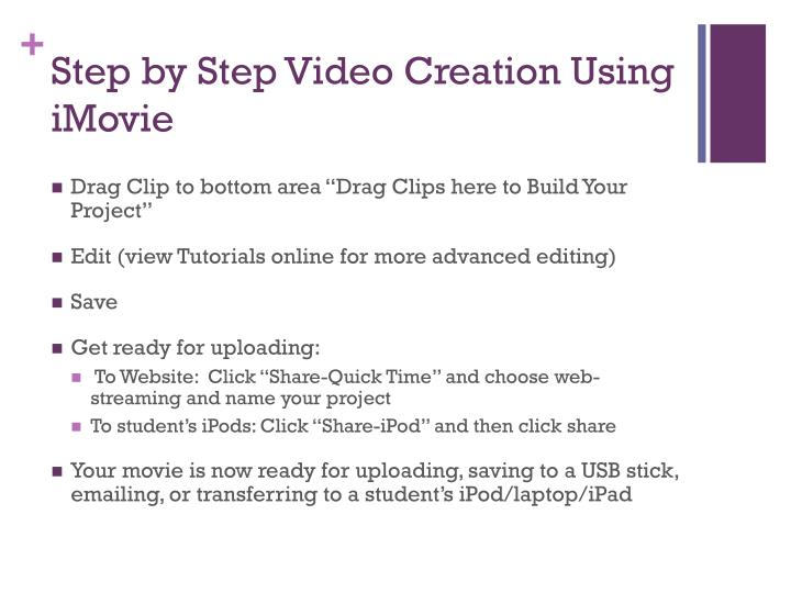 Step by Step Video Creation Using