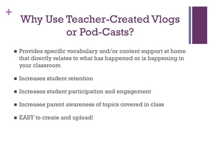 Why Use Teacher-Created