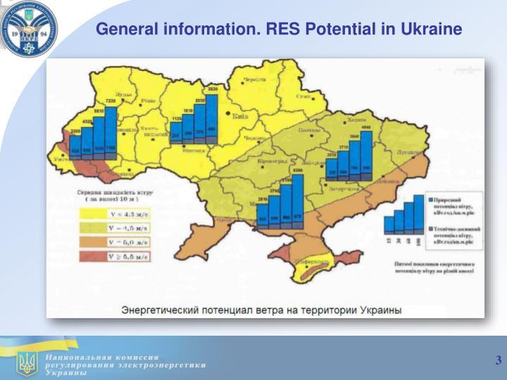 General information res potential in ukraine
