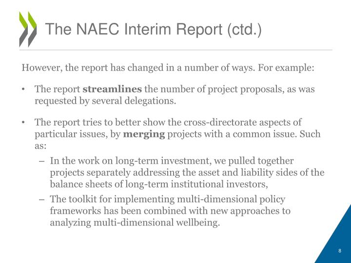The NAEC Interim Report (
