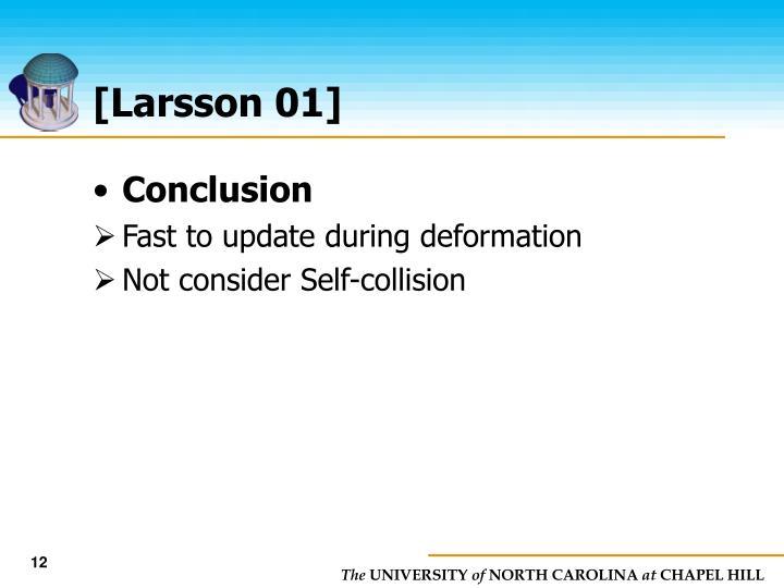 [Larsson 01]