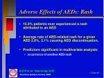 adverse effects of aeds rash