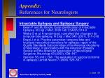 appendix references for neurologists3