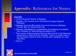 appendix references for nurses1