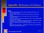 appendix references for nurses2