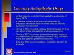 choosing antiepileptic drugs1