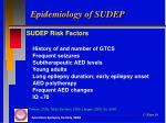 epidemiology of sudep1
