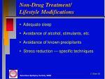 non drug treatment lifestyle modifications