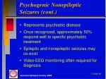 psychogenic nonepileptic seizures cont1