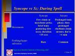 syncope vs sz during spell2
