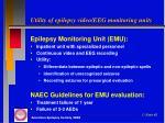 utility of epilepsy video eeg monitoring units