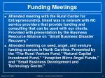 funding meetings
