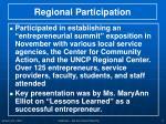 regional participation