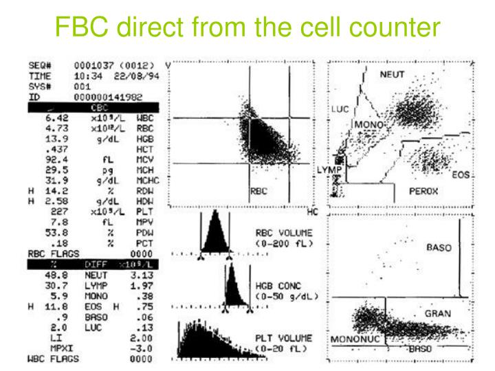 FBC direct from the cell counter