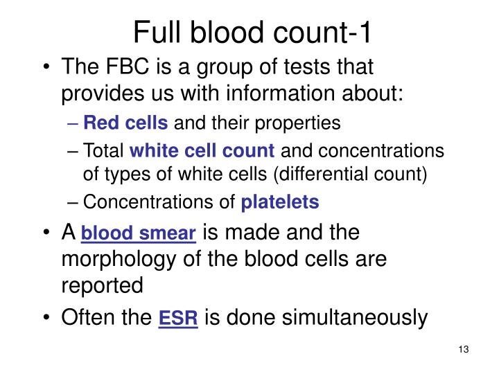 Full blood count-1