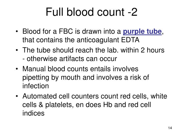 Full blood count -2