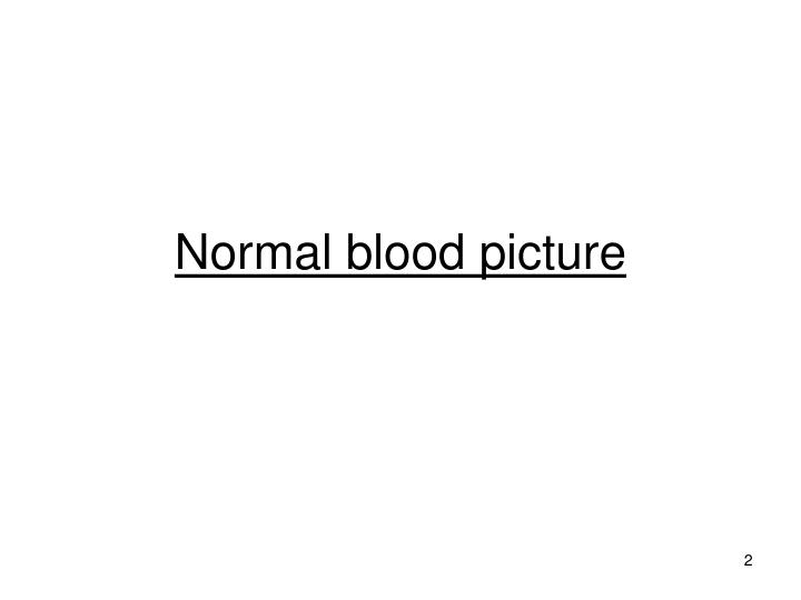 Normal blood picture