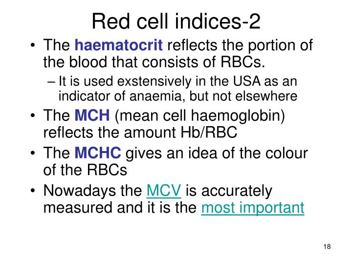 Red cell indices-2