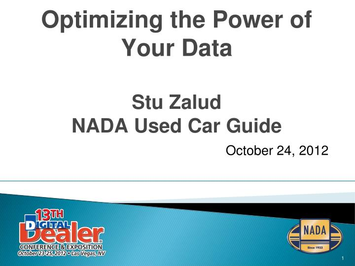 optimizing the power of your data stu zalud nada used car guide