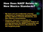 how does naep relate to new mexico standards