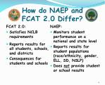 how do naep and fcat 2 0 differ