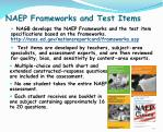 naep frameworks and test items