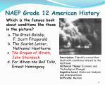 naep grade 12 american history