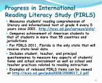 progress in international reading literacy study pirls