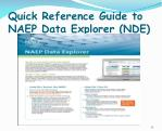 quick reference guide to naep data explorer nde