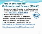 trend in international mathematics and science timss