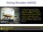 driving simulator nads