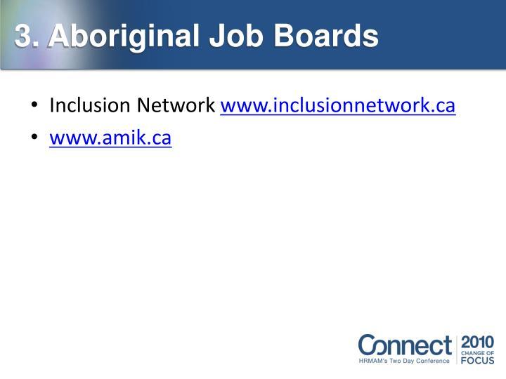 3. Aboriginal Job Boards