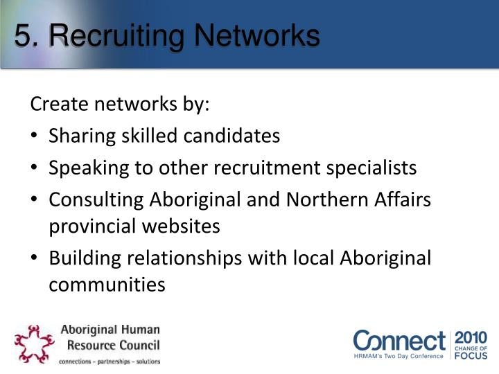 5. Recruiting Networks