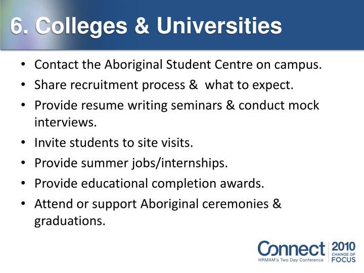 6. Colleges & Universities