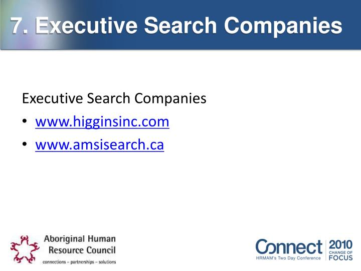 7. Executive Search Companies