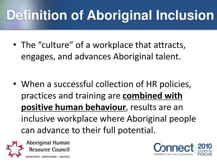 Definition of Aboriginal Inclusion